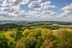 Rozhledna Pepř - vrcholky Brd